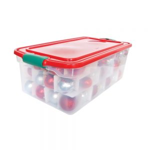Holiday Latching Clear Storage - 64 Qt